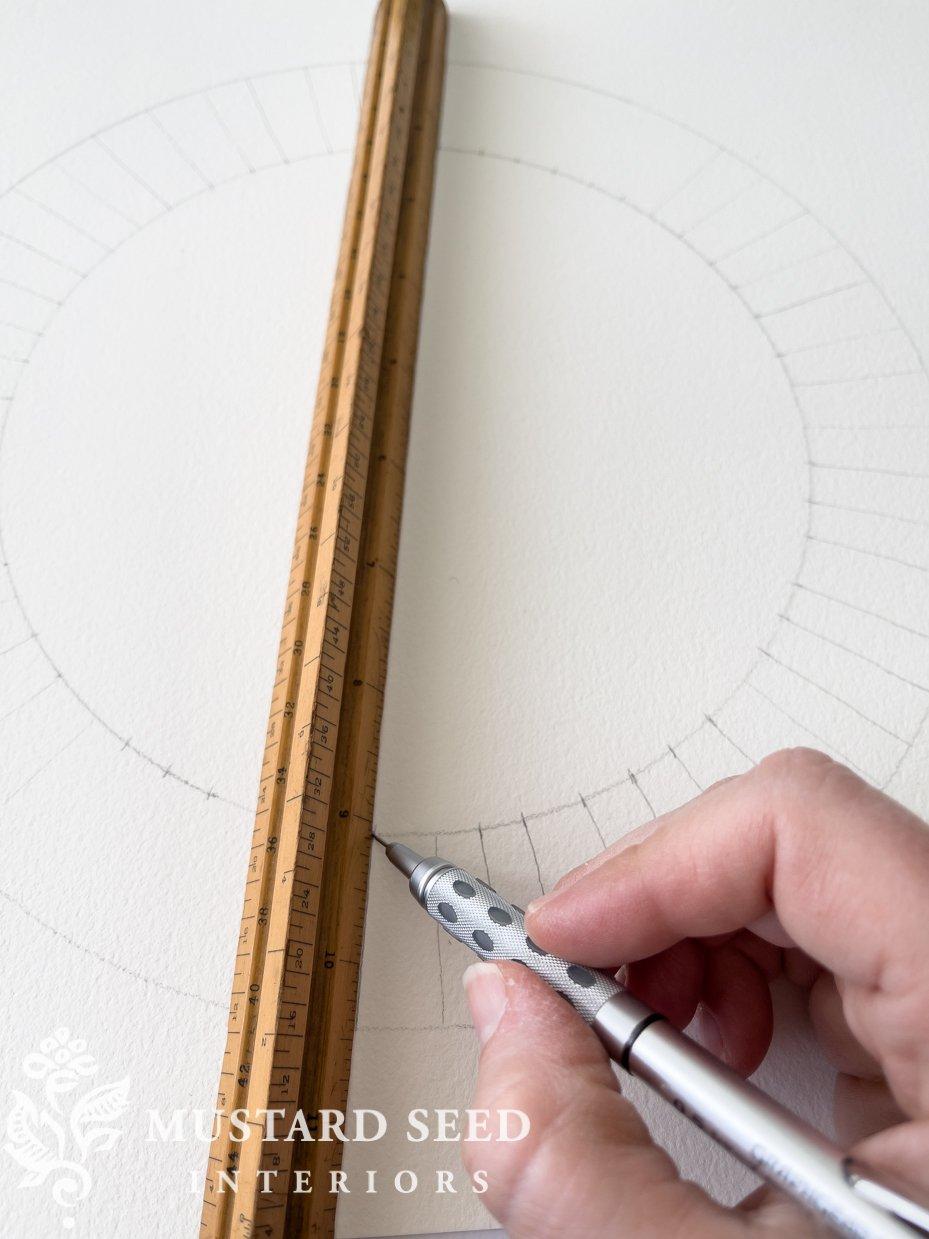 vintage wood triangle ruler | miss mustard seed