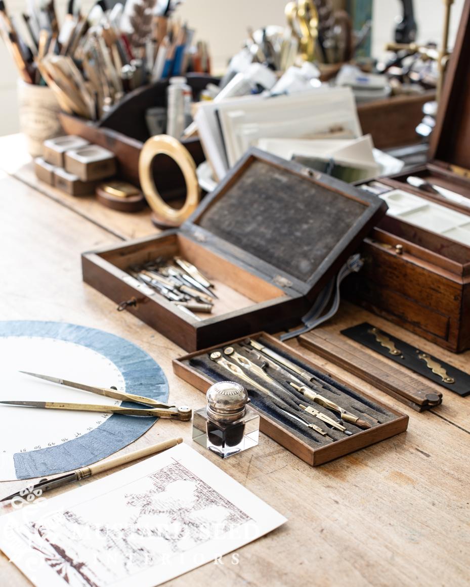 antique drafting box | art studio | miss mustard seed