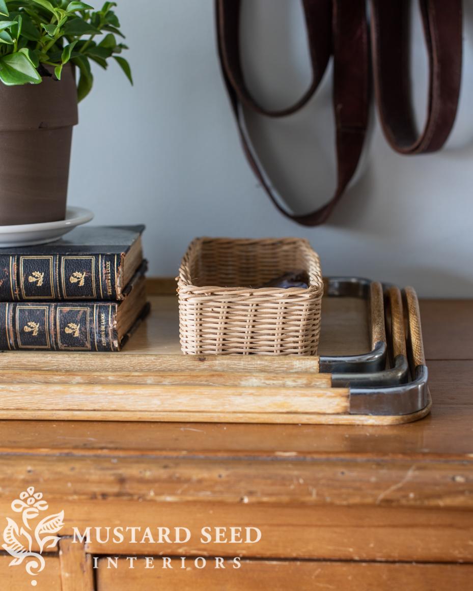 small vintage basket | miss mustard seed