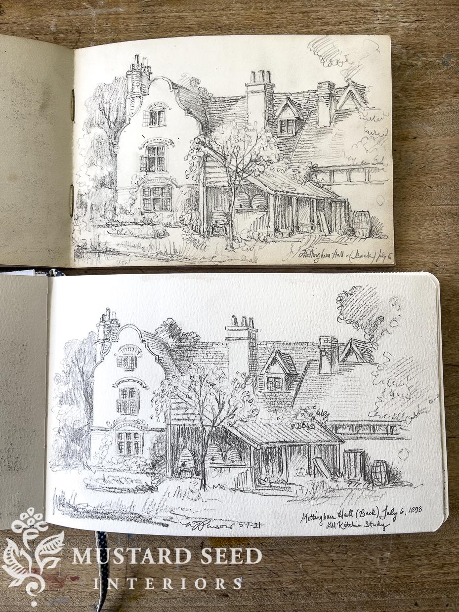George Herbert Kitchin Sketchbook Study | Miss Mustard Seed