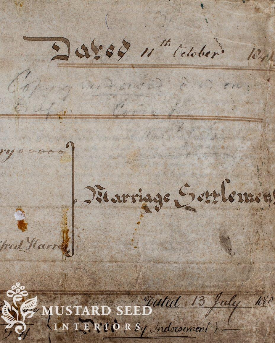 1840's English Indenture | ponder & purchase | miss mustard seed