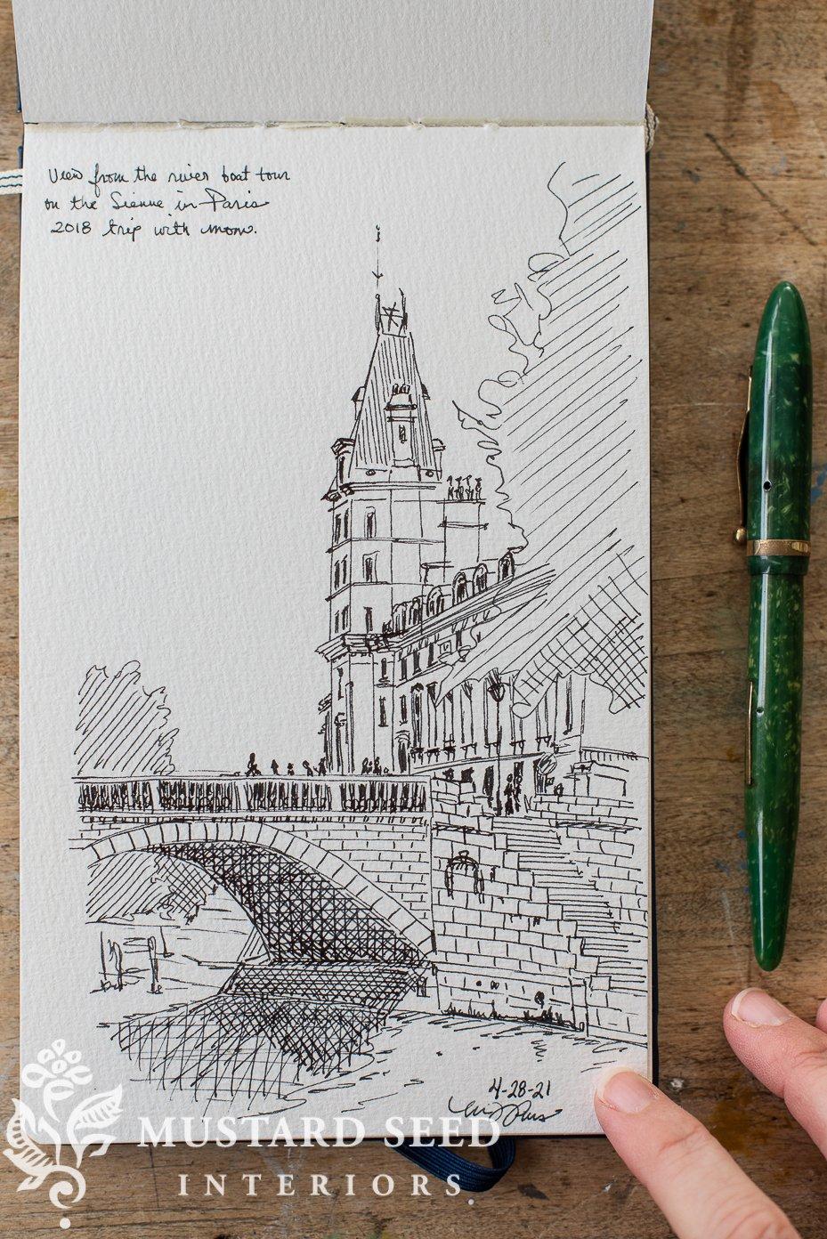 sketchbook tour | pen & ink | travel sketch | Paris | miss mustard seed
