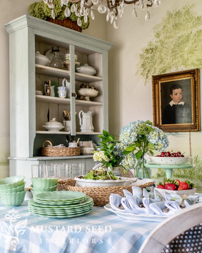 summer buffet table with Walmart | miss mustard seed