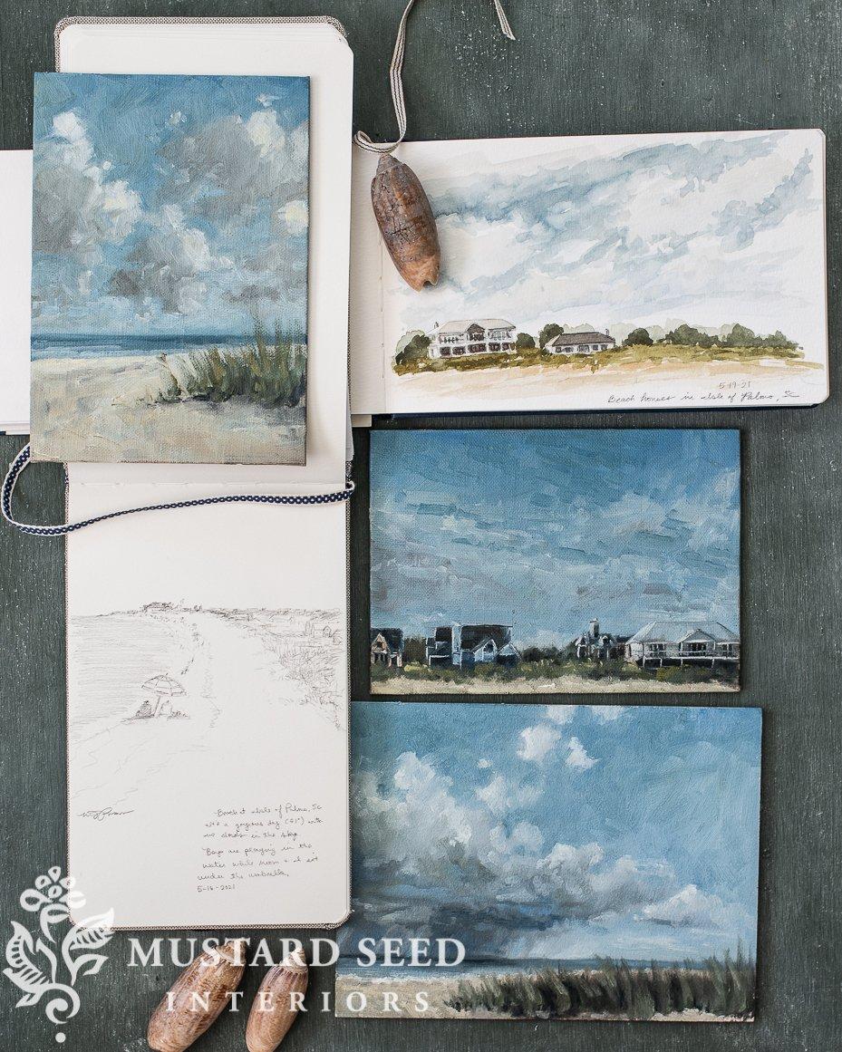 travel sketchbook | Isle of Palms | miss mustard seed