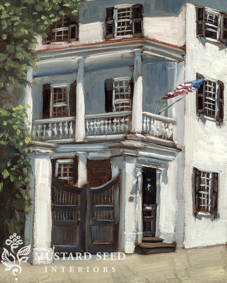 original oil painting | Charleston SC | miss mustard seed