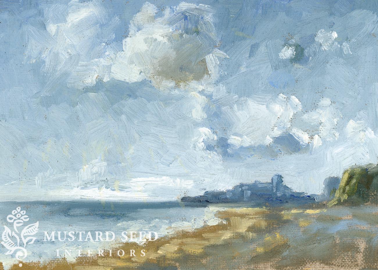 original oil painting | Jongkind study | miss mustard seed