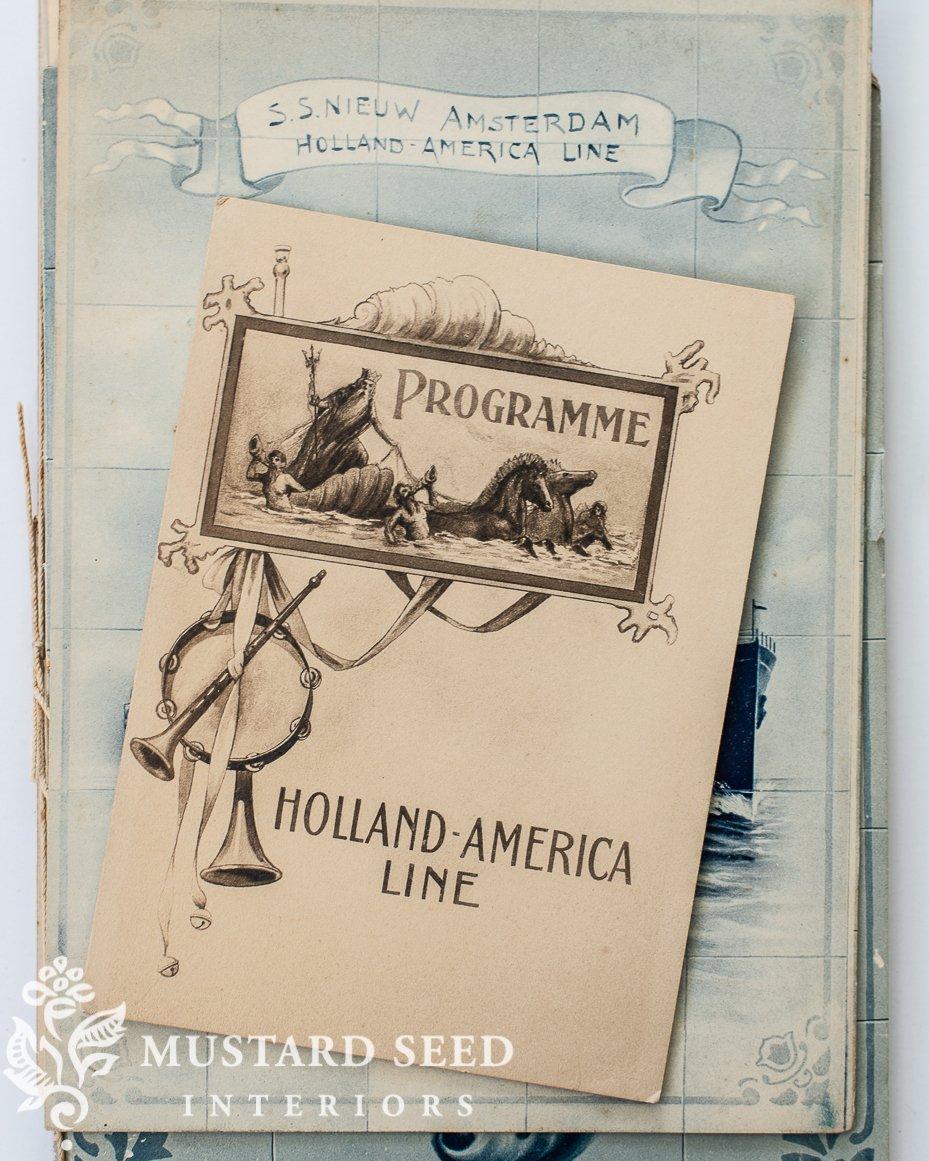 holland american line menus and programs   organizing   miss mustard seed