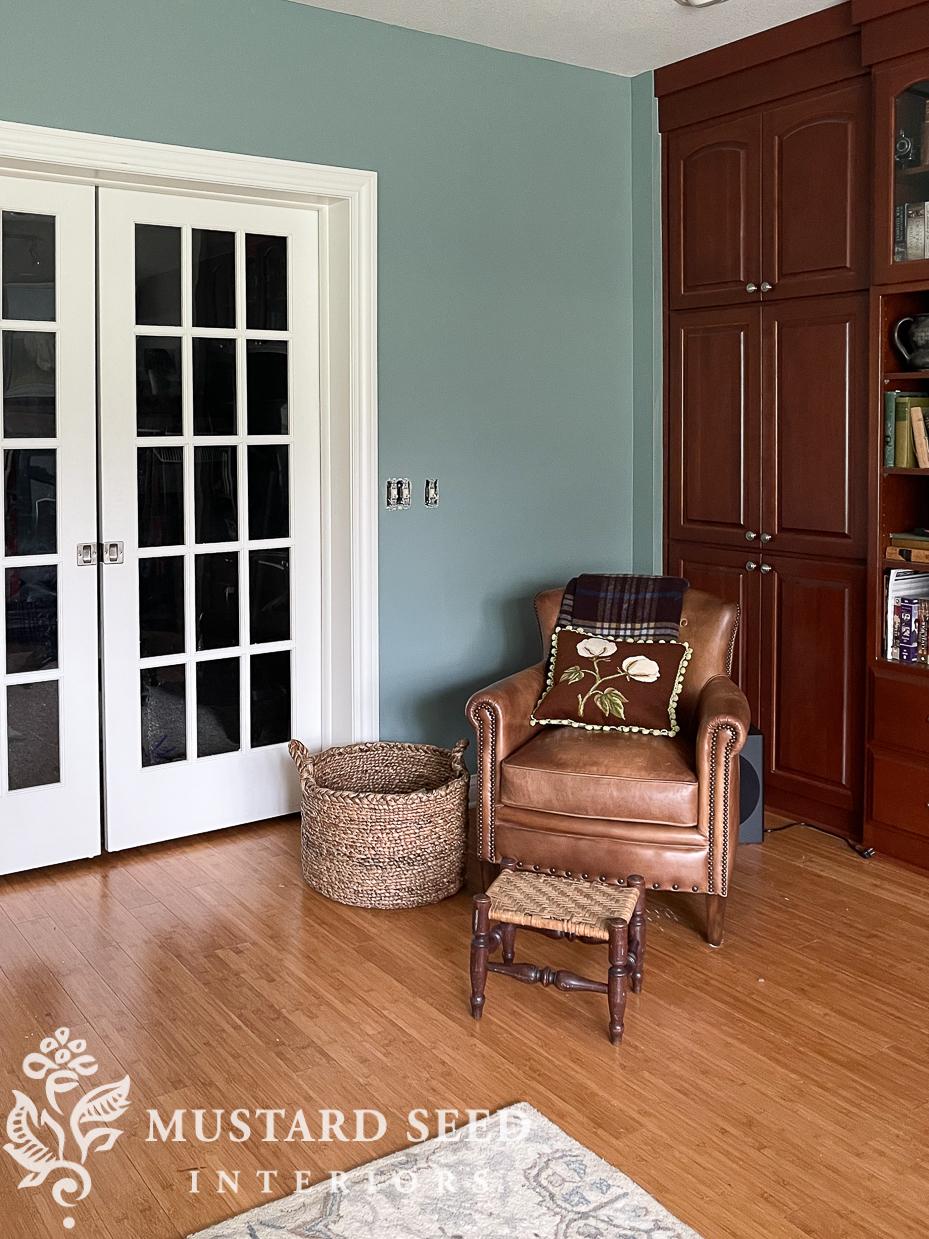 basement family room makeover | oval room blue | farrow & ball | miss mustard seed