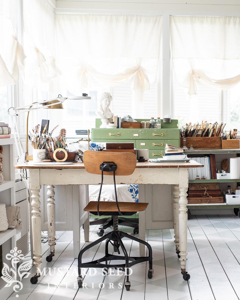 art studio | antiques | creative space | miss mustard seed