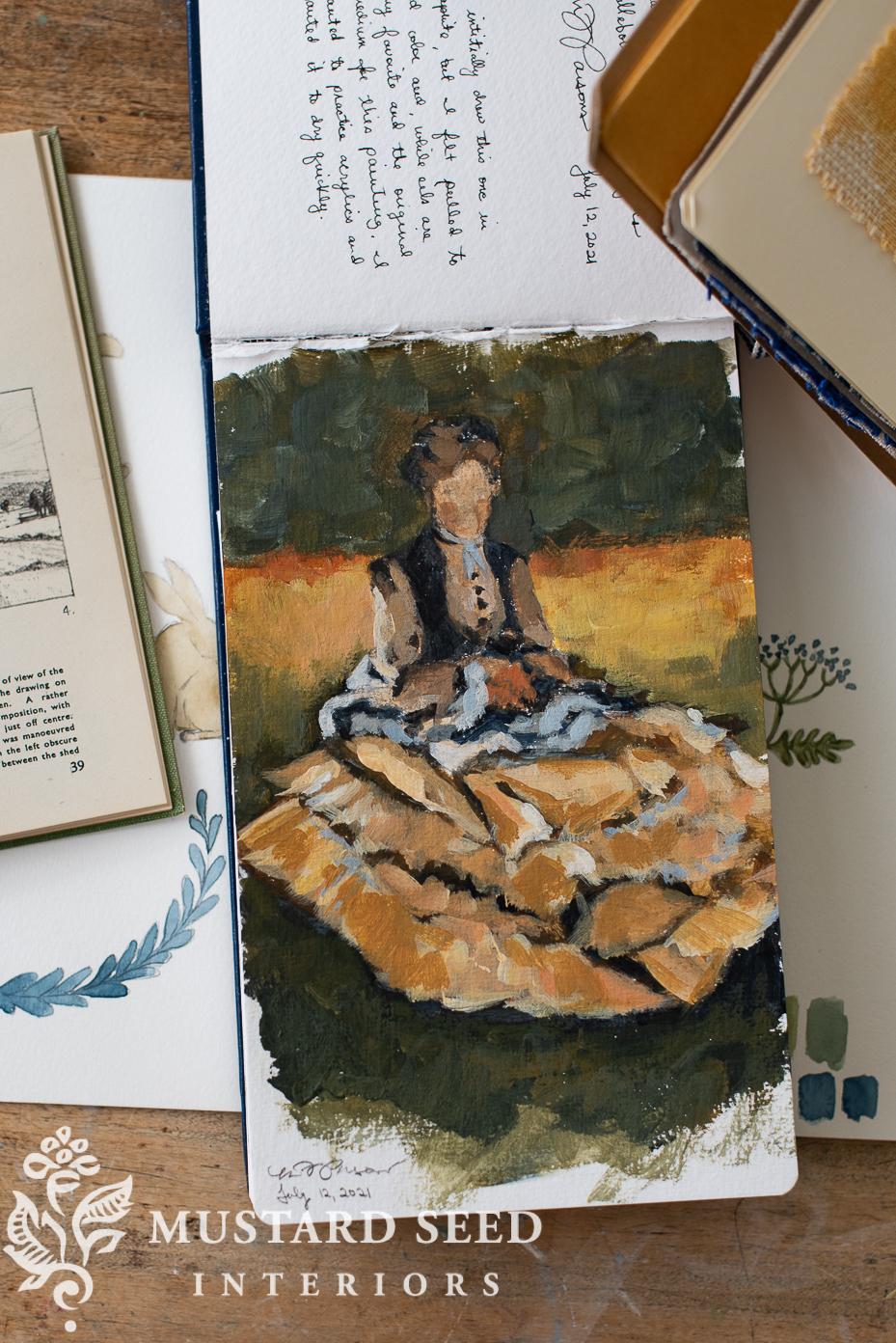 Caillebotte sketchbook study | miss mustard seed