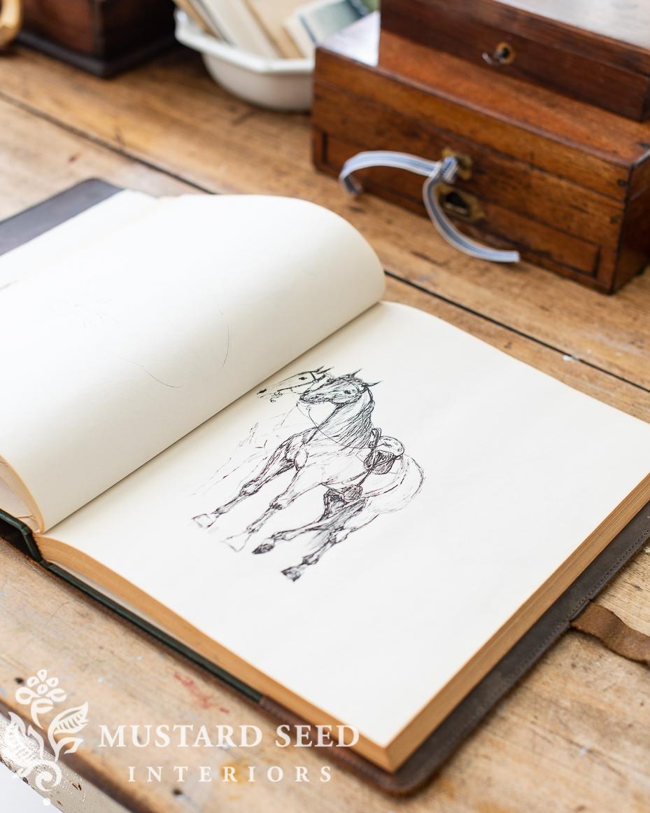 gold rush finds | vintage sketchbook | miss mustard seed
