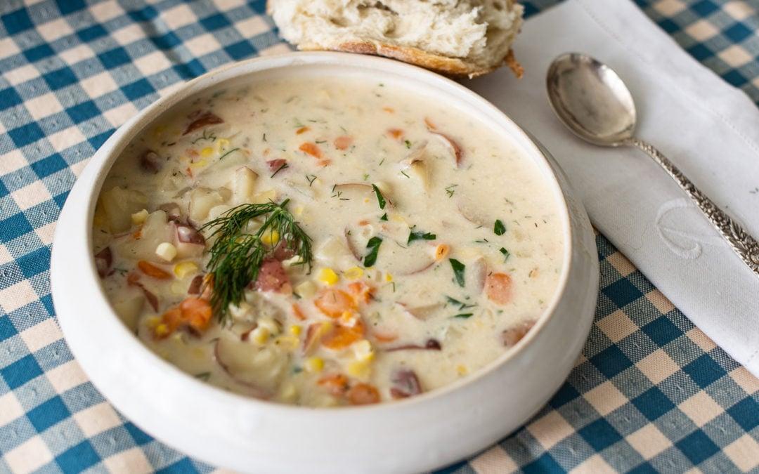 potato corn soup with dill