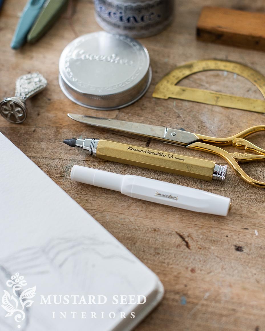 kaweco brass pencil clutch | miss mustard seed