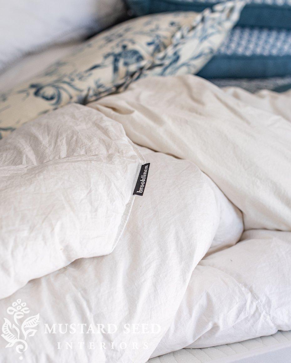 brooklinen down comforter duvet   miss mustard seed
