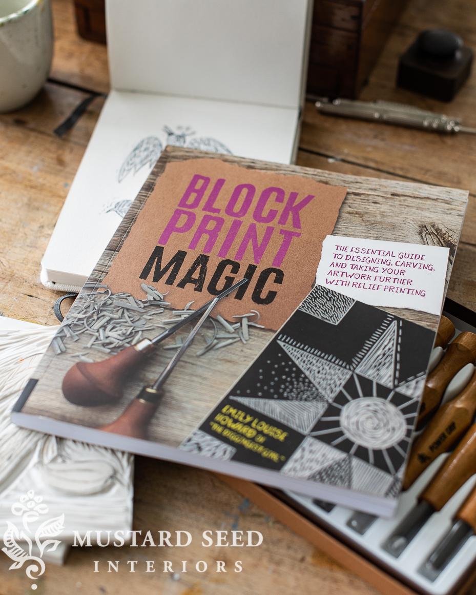 block printing magic   lino cutting & printing   creative play   miss mustard seed
