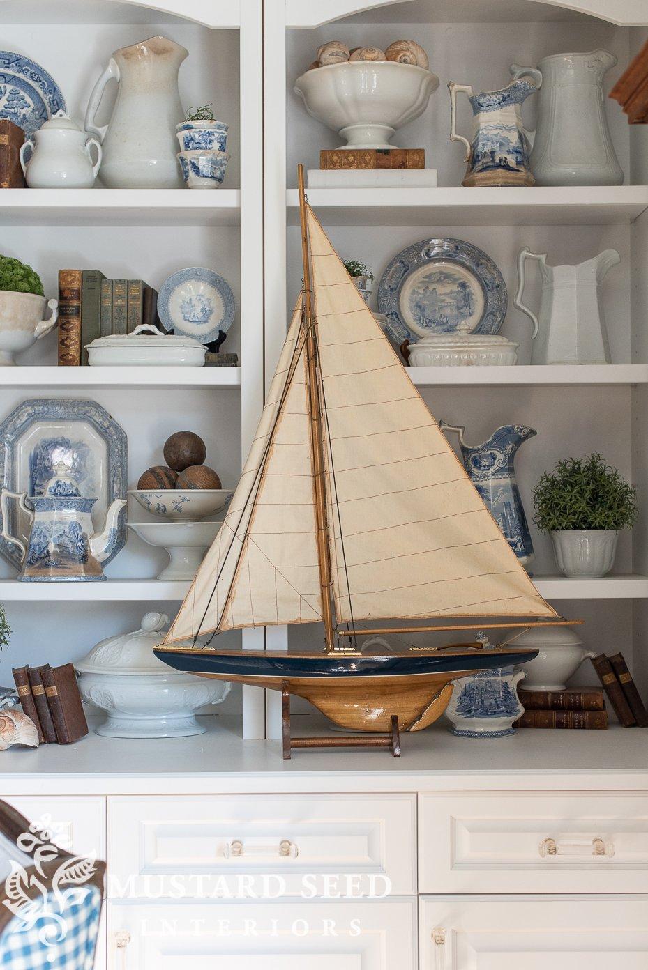 vintage pond yacht   miss mustard seed
