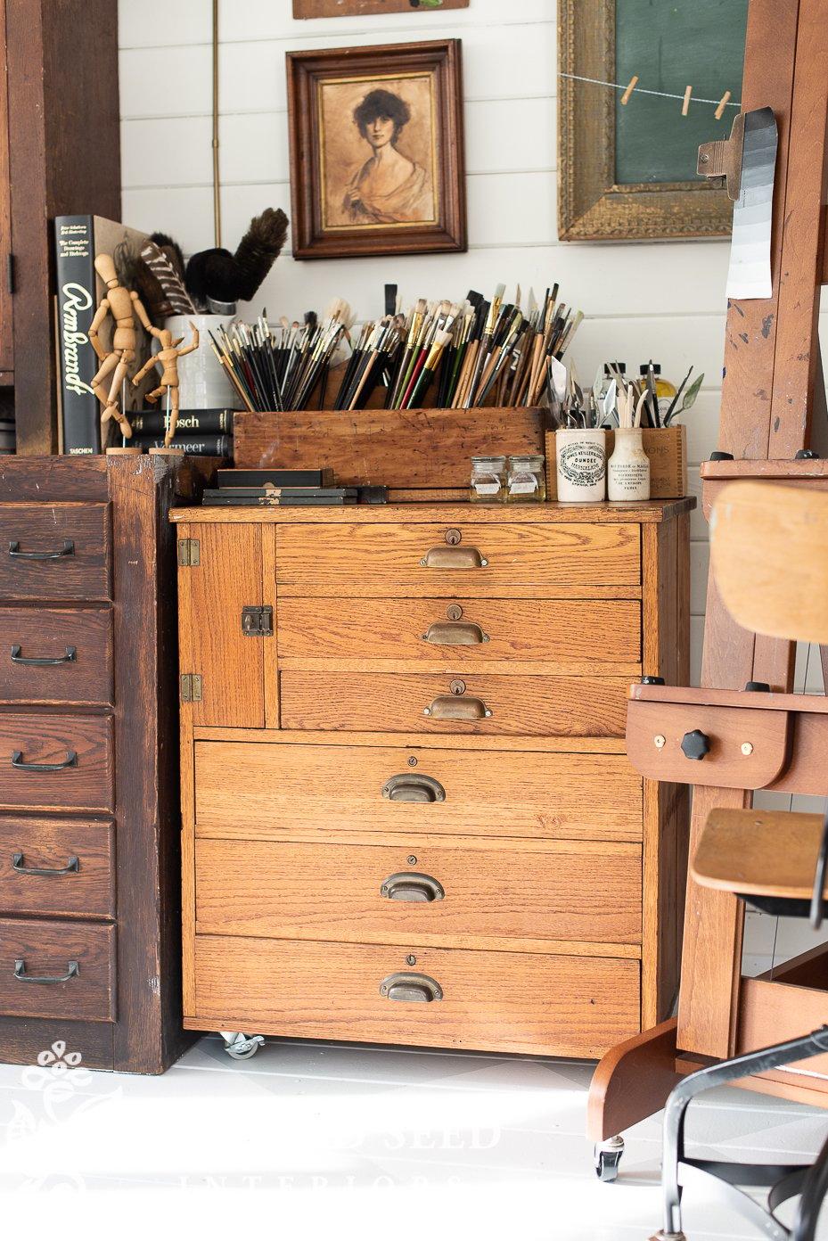 antique post office register | art studio | miss mustard seed
