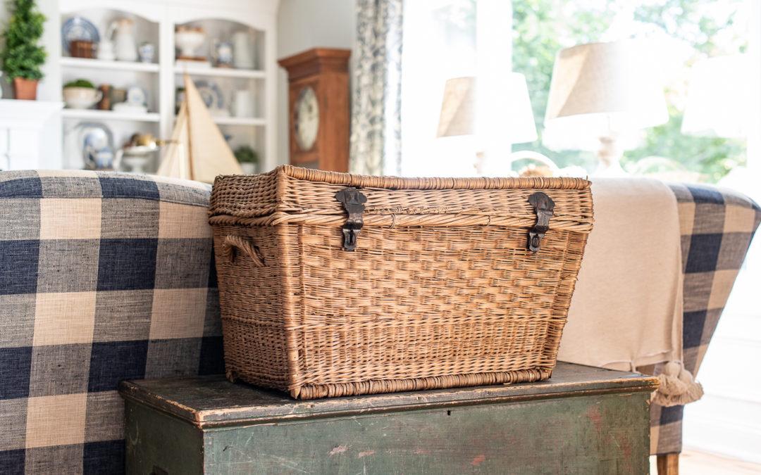 reshaping an antique german basket