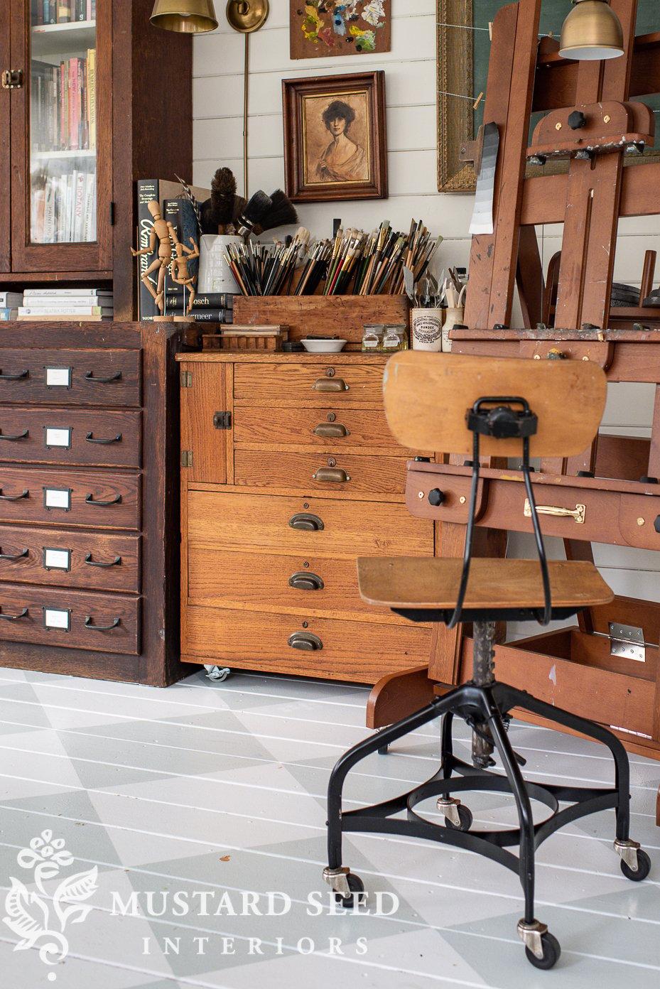 antique post office register cabinet   art studio   miss mustard seed