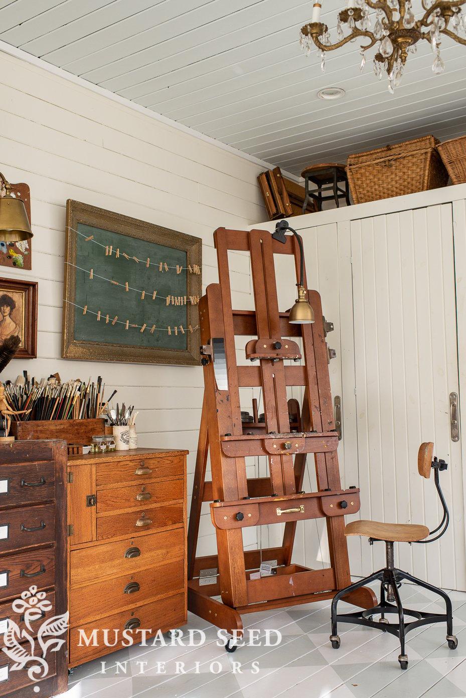 antique hardware cabinet   art studio   miss mustard seed