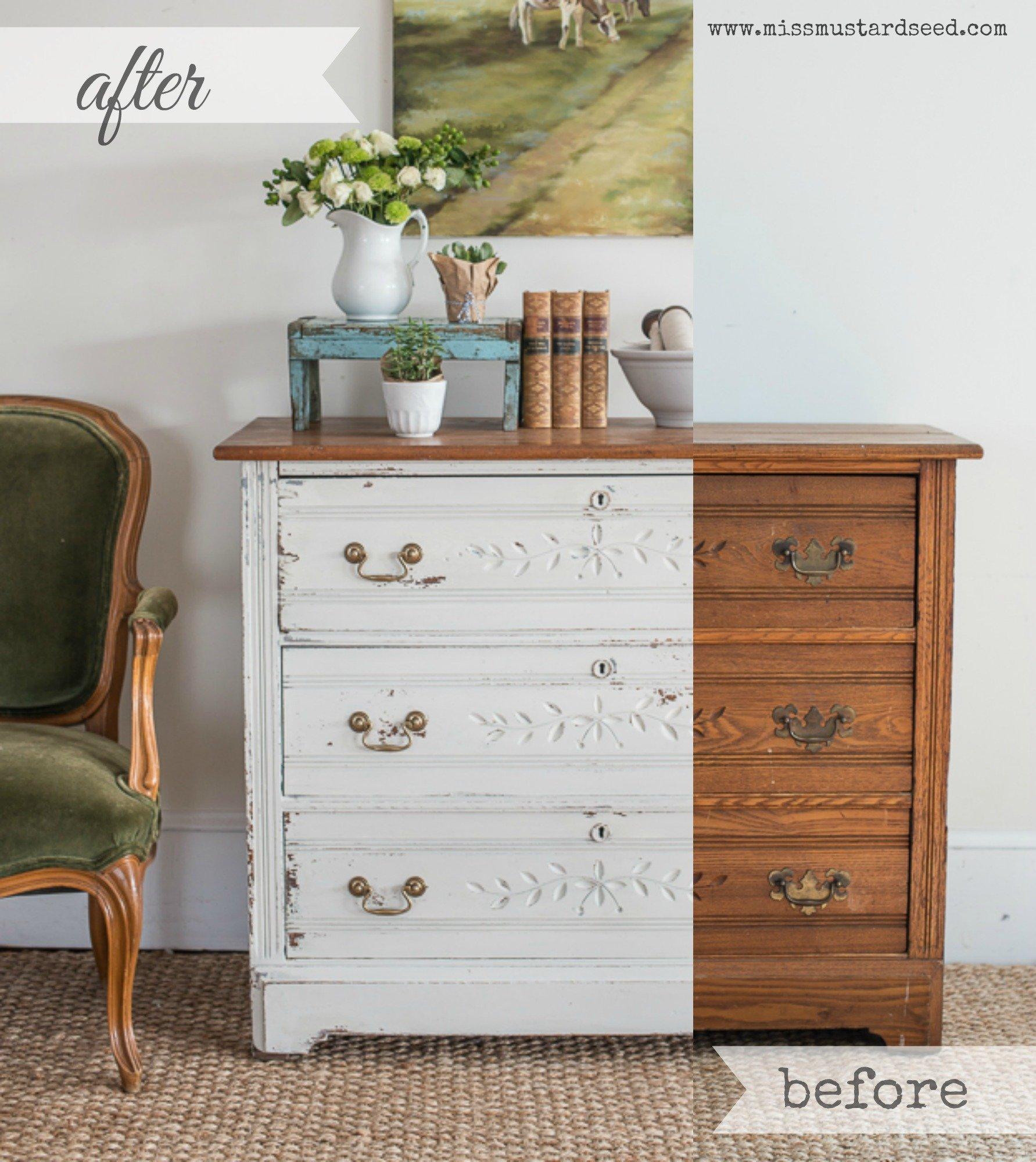 Dresser Before & After Collage