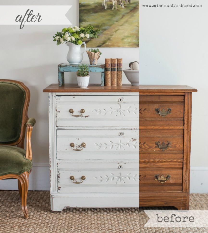 Custom White Milk Paint Dresser