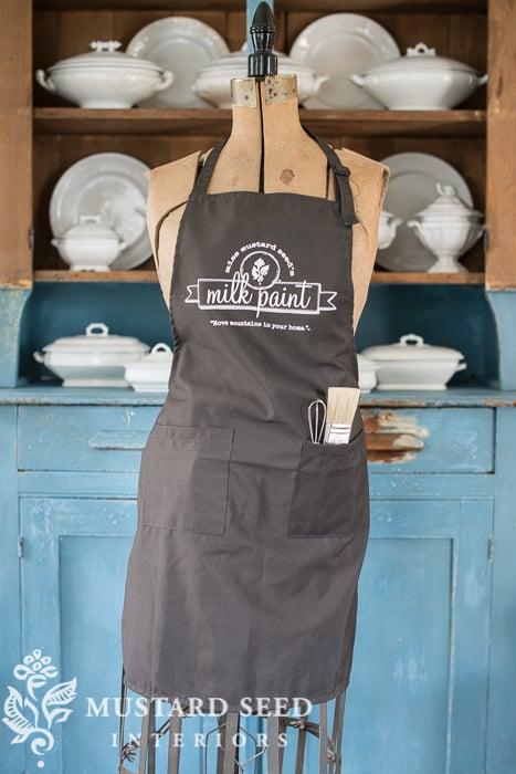 milk paint apron | miss mustard seed