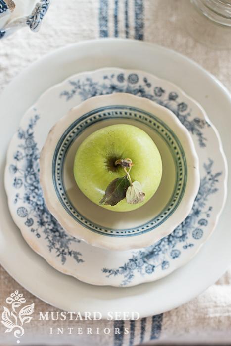 apple on ironstone plates | miss mustard seed