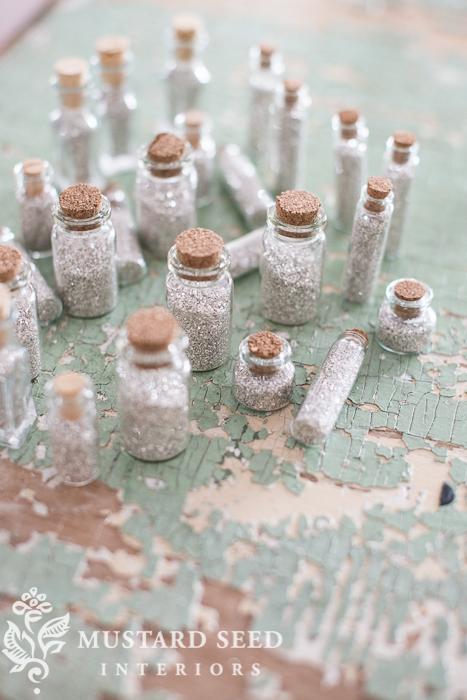 glass glitter vials | miss mustard seed