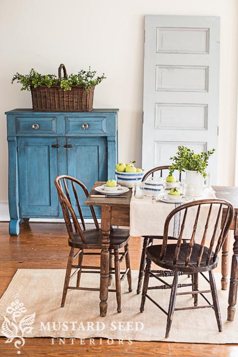 jelly cupboard & painted door | miss mustard seed's milk paint