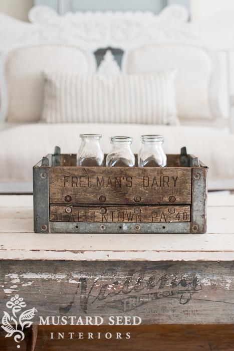antique milk crate   miss mustard seed