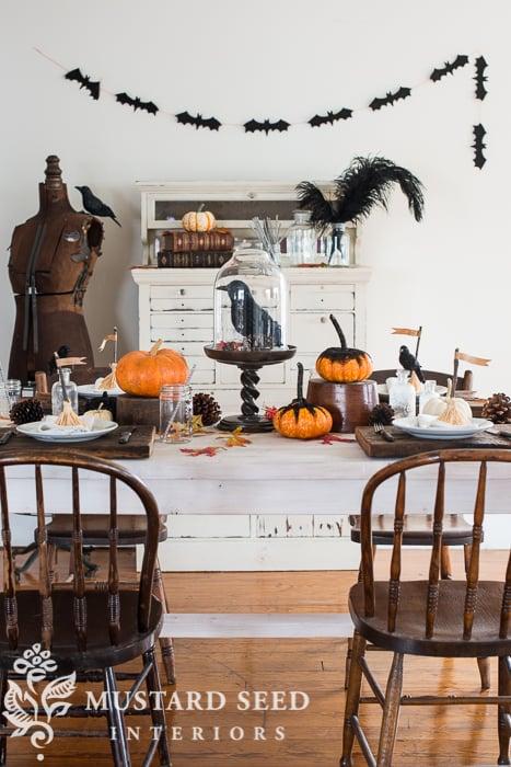 black glittered pumpkins & more