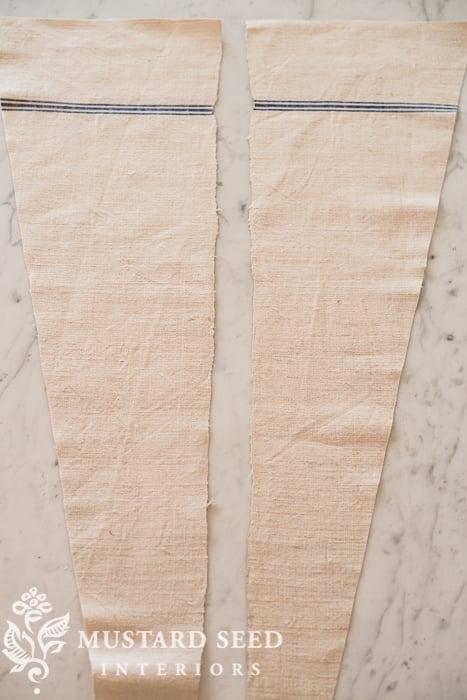 grain sack tree skirt | miss mustard seed