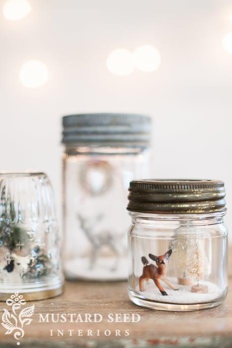 mason jar snow globes   miss mustard seed