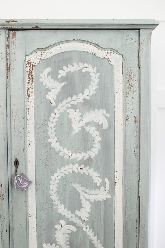 hand painted wardrobe