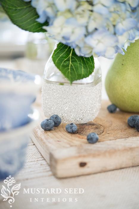 glass glitter milk bottles | miss mustard seed