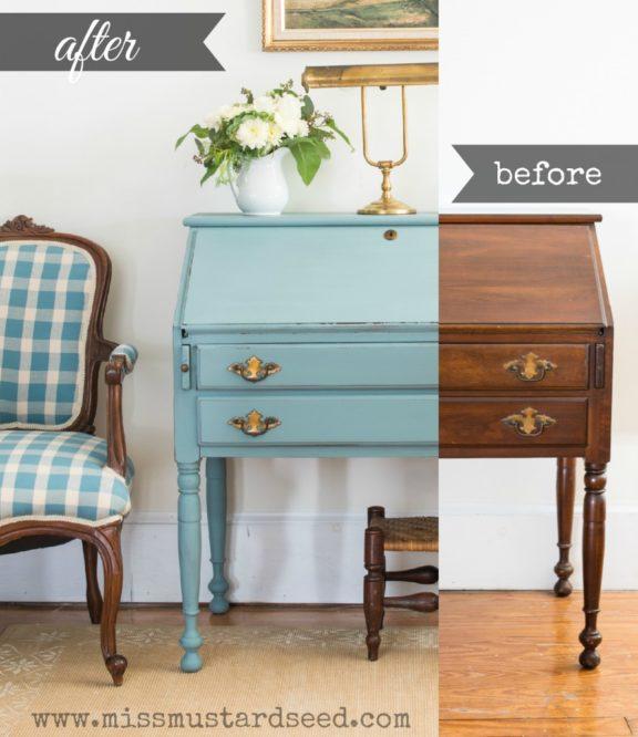 """swedish"" blue desk | miss mustard seed"