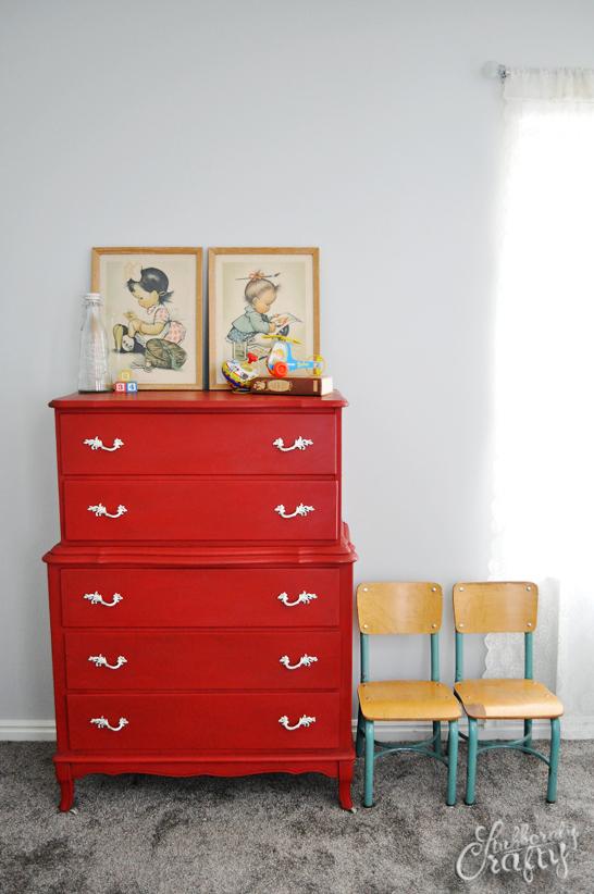 fff red dresser