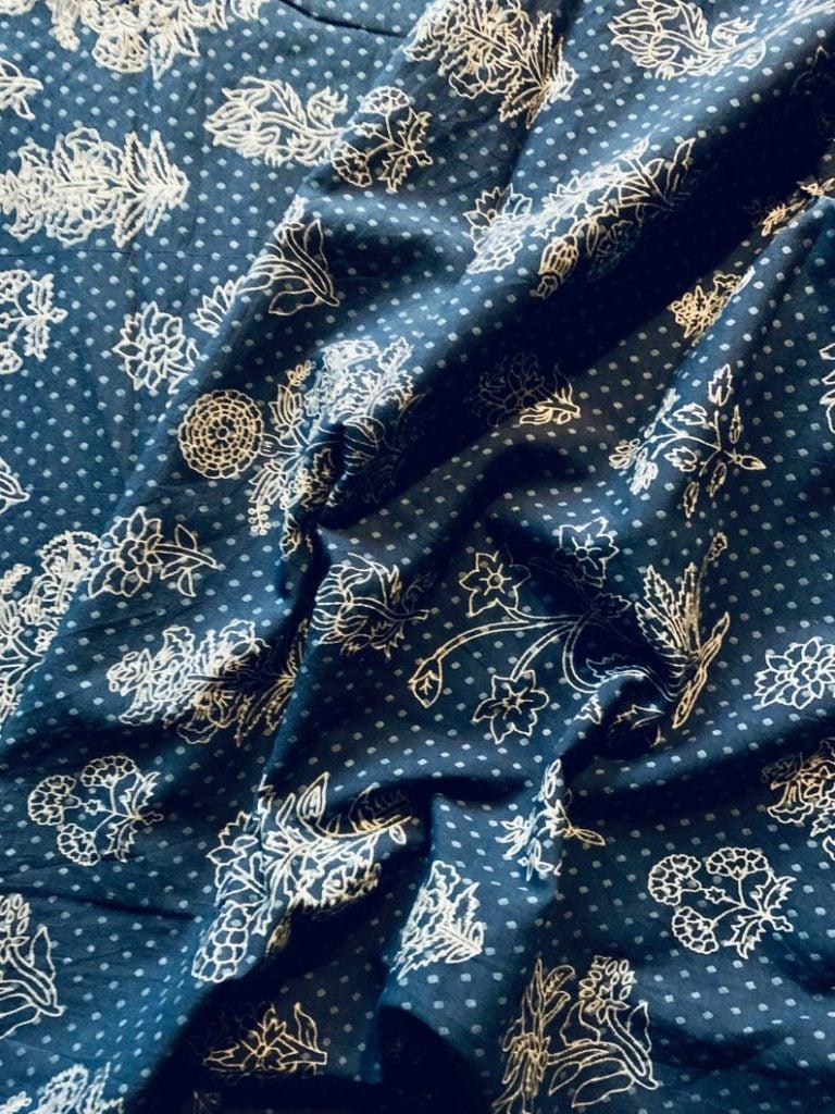basement family room design | indigo curtain fabric | miss mustard seed