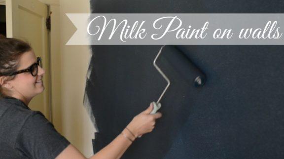 milk paint on walls