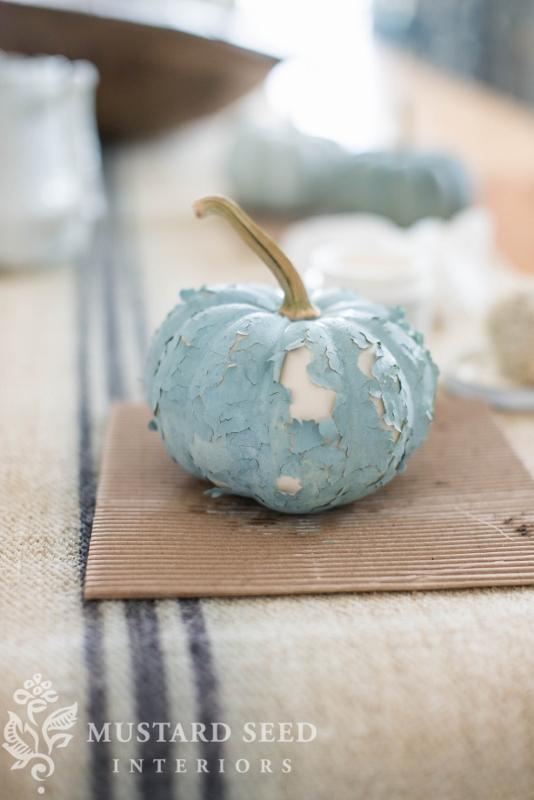 milk paint pumpkins | need a bonding agent | diy paint colors | fall decor | missmustardseed.com