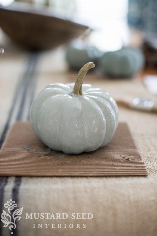 milk paint pumpkins | fall decor | DIY | missmustardseed.com