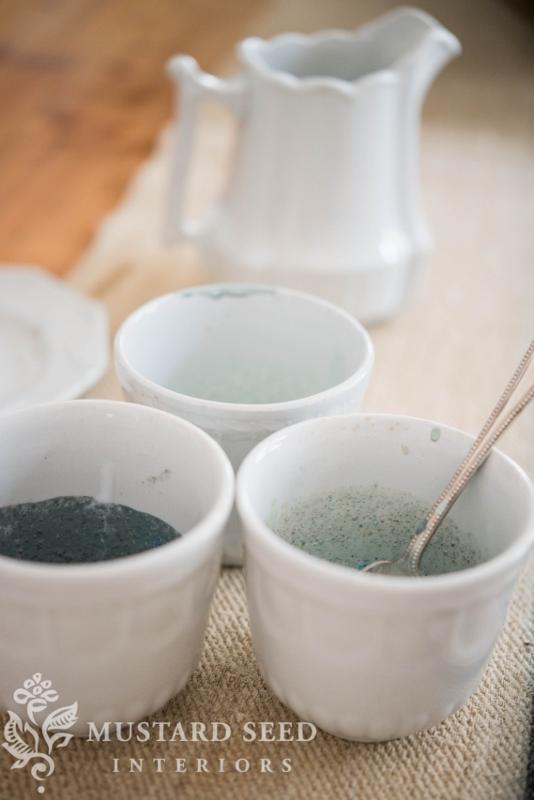 ironstone | mixing custom milk paint colors | diy pumpkins | fall decor | missmustardseed.com