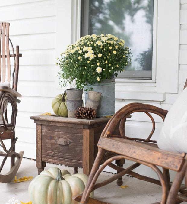 fall porch photoshoot