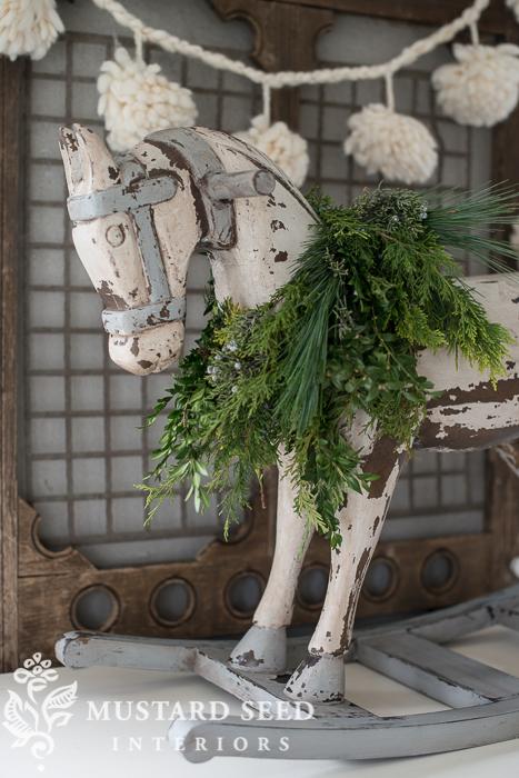 milk painted rocking horse   miss mustard seed