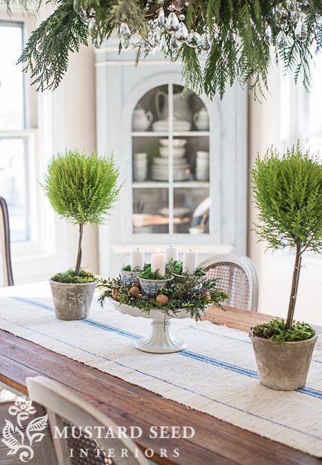 teacup & pedestal advent wreath