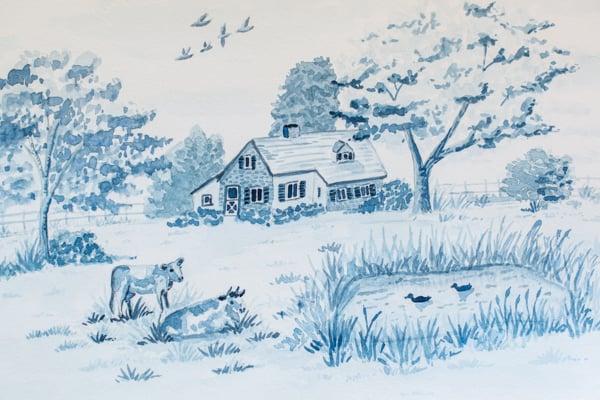 "A Cow Toile & ""A Touch of Farmhouse Charm"""
