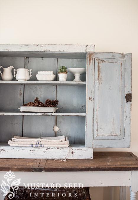 painted primitive cabinet