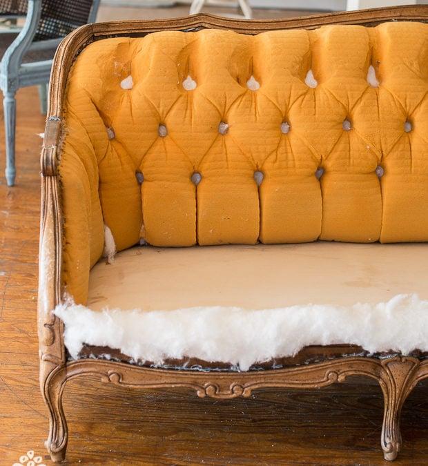 tufted sofa progress