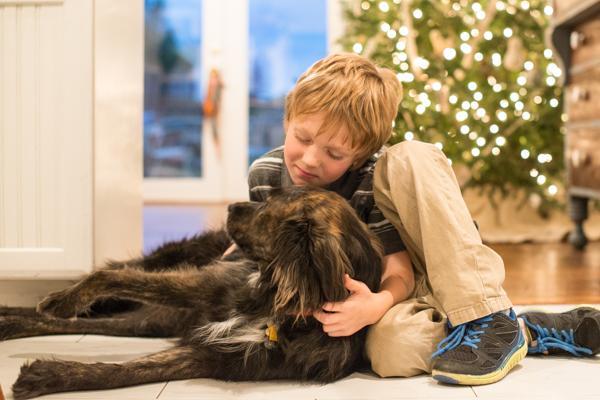 holiday snuggles with Sebastian